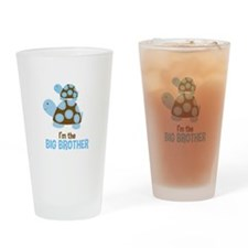 Blue Mod Turtles Im the Big Brother Drinking Glass