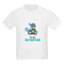 Blue Mod Turtles Im the Big Brother T-Shirt