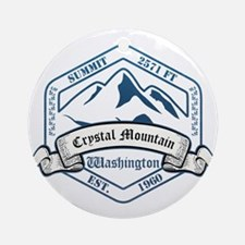 Crystal Mountain Ski Resort Washington Ornament (R