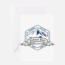 Jackson Hole Ski Resort Wyoming Greeting Cards