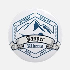 Jasper Ski Resort Alberta Ornament (Round)