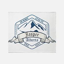 Jasper Ski Resort Alberta Throw Blanket