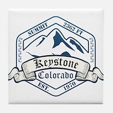 Keystone Ski Resort Colorado Tile Coaster