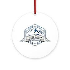 Lake Tahoe Ski Resort California Ornament (Round)