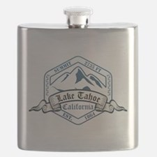 Lake Tahoe Ski Resort California Flask