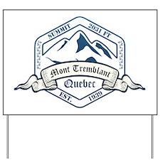 Mont Tremblant Ski Resort Quebec Yard Sign
