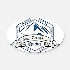 Mont Tremblant Ski Resort Quebec Oval Car Magnet