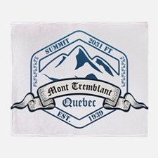 Mont Tremblant Ski Resort Quebec Throw Blanket
