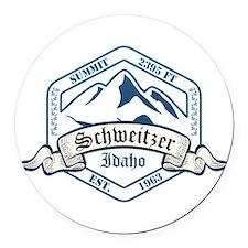 Schweitzer Ski Resort Idaho Round Car Magnet