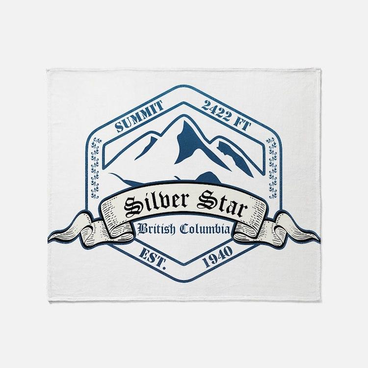 Silver Star Ski Resort British Columbia Throw Blan