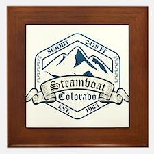 Steamboat Ski Resort Colorado Framed Tile