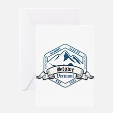 Stowe Ski Resort Vermont Greeting Cards