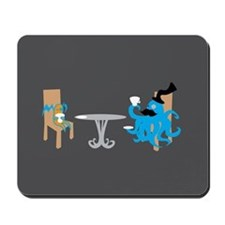 Tea Time (dark Bg Compatible) Mousepad