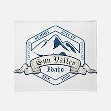 Sun Valley Ski Resort Idaho Throw Blanket