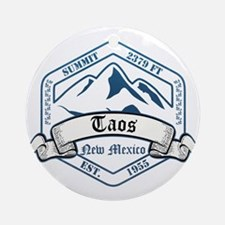 Taos Ski Resort New Mexico Ornament (Round)