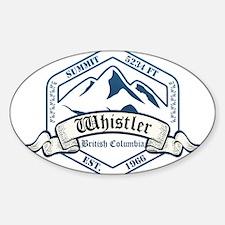 Whistler Ski Resort British Columbia Decal