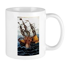 Colossal Octopus by Pierre Denys de Montfort Mugs