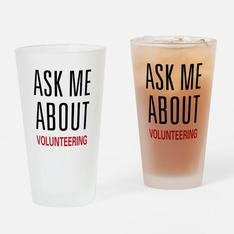 Ask Me Volunteering Pint Glass