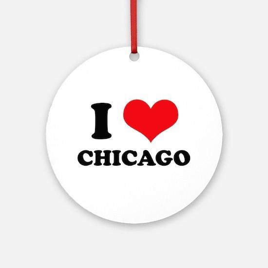 I Love (Heart) Chicago Ornament (Round)