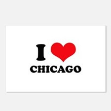 I Love (Heart) Chicago Postcards (Package of 8)