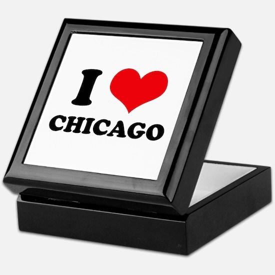 I Love (Heart) Chicago Keepsake Box