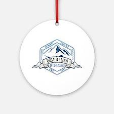 Whitefish Ski Resort Montana Ornament (Round)