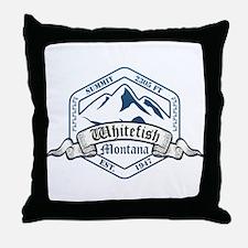 Whitefish Ski Resort Montana Throw Pillow