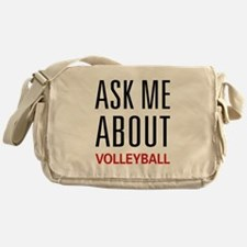 Ask Me About Volleyball Messenger Bag