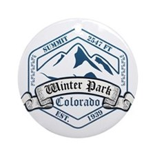 Winter Park Ski Resort Colorado Ornament (Round)