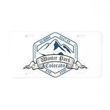 Winter Park Ski Resort Colorado Aluminum License P