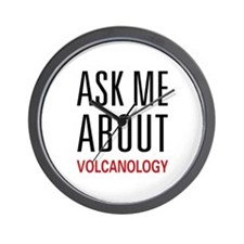 Ask Me Volcanology Wall Clock
