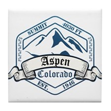 Aspen Ski Resort Colorado Tile Coaster