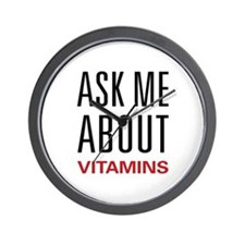 Ask Me About Vitamins Wall Clock