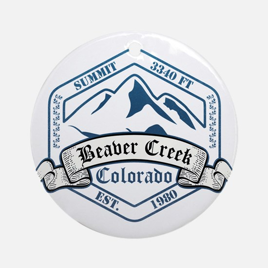 Beaver Creek Ski Resort Colorado Ornament (Round)