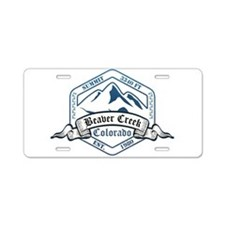 Beaver Creek Ski Resort Colorado Aluminum License