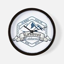 Kirkwood Ski Resort California Wall Clock