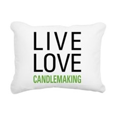 Live Love Candlemaking Rectangular Canvas Pillow