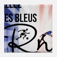 RightOn Les Bleus Tile Coaster