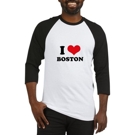 I Love (Heart) Boston Baseball Jersey