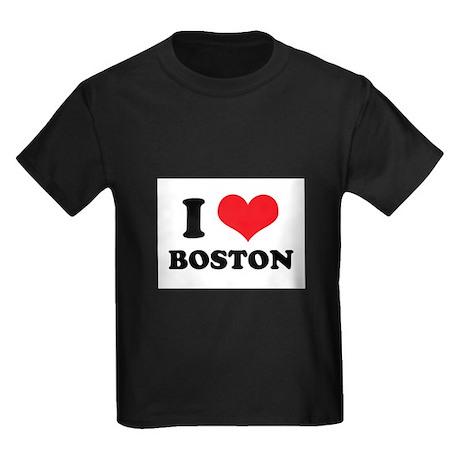 I Love (Heart) Boston Kids Dark T-Shirt