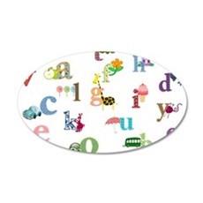 I learn the alphabet Decal Wall Sticker