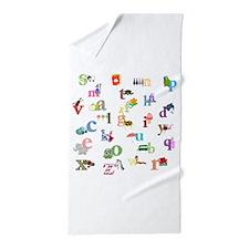 I learn the alphabet Beach Towel