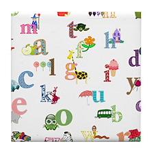 I learn the alphabet Tile Coaster
