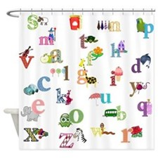 I Learn The Alphabet Shower Curtain