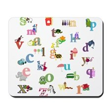 I learn the alphabet Mousepad