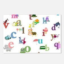 I learn the alphabet Postcards (Package of 8)