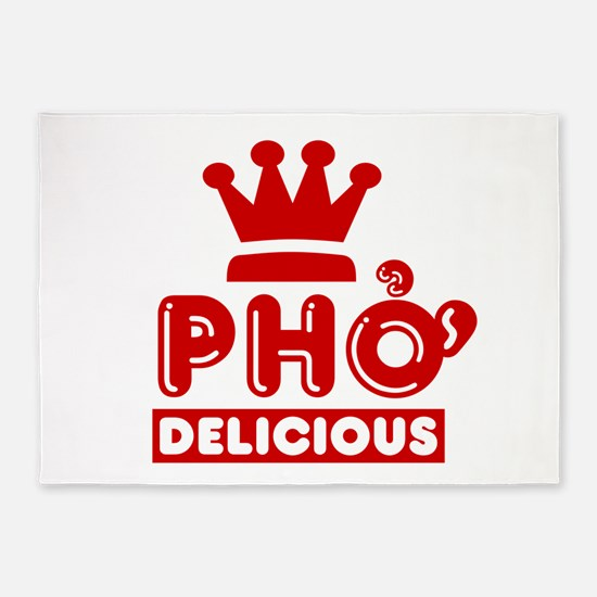 Pho King Delicious 5'x7'Area Rug