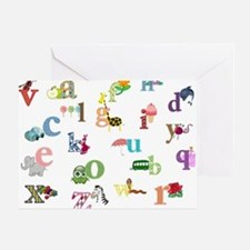 I Learn The Alphabet Greeting Cards