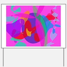Unique Psychedelic Pink Design Yard Sign