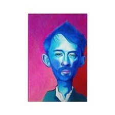 """Blue Thom Yorke"" Rectangle Magnet"